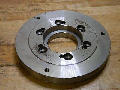 Buck Chuck Steel Adapter Plate For 10 Self-centering Lathe Chucks A10-d6