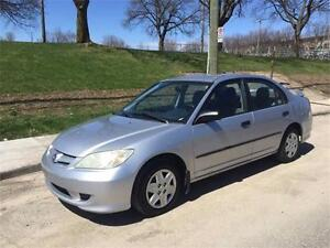 2004 HONDA CIVIC , MANUEL 4 CYLINDRE  1.7 LITRES , AIR CLIMATISE