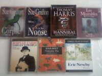 ABC SUE GRAFTON, THOMAS HARRIS VICTOR HUGO LE CARRE TIMOTHY MO ERIC NEWBY AUDIO BOOK CASSETTE TAPES
