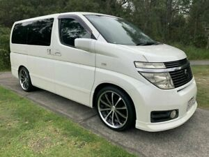 2002 Nissan Elgrand E51 Highway Star White 5 Speed Automatic Wagon Warana Maroochydore Area Preview