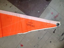 A Trysail, (orange colour) - good condition - Previously from a Westerly Conway 36' Ketch
