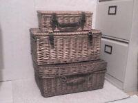 3 Wicker Storage Baskets