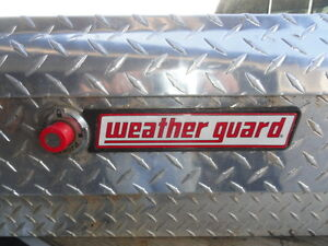 Weather Guard tool box set, alum with locks