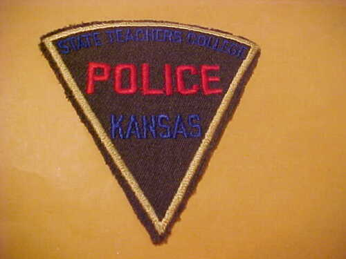 KANSAS STATE TEACHERS COLLEGE  POLICE PATCH SHOULDER SIZE UNUSED