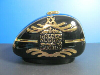 GOLDEN NUGGET LAUGHLIN CASINO,BLACK & GOLD GAS TANK CERAMIC PIGGY BANK - Black Gold Casino