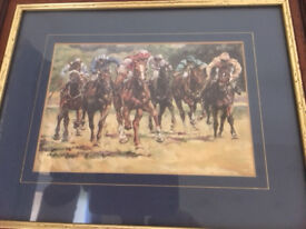 'Racehorses in race' print