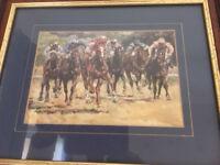 'Racehorses in race' print