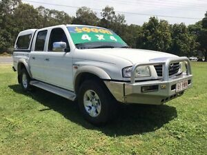 2004 Mazda B2600 Bravo SDX (4x4) White 5 Speed Manual Dual Cab Pick-up Clontarf Redcliffe Area Preview