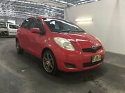 2010 Toyota Yaris NCP90R 10 Upgrade YR Red 4 Speed Automatic Hatchback Beresfield Newcastle Area Preview