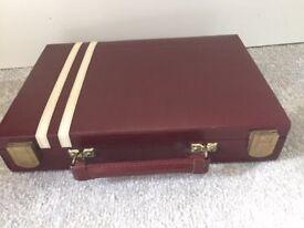 Mah Jong set in leather case Vintage 1970s (Anne Carlton Games)