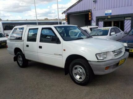 2001 Holden Rodeo TF MY01 LX Crew Cab White 4 Speed Automatic Utility