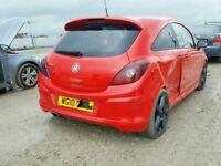 VAUXHALL CORSA D RED TAILGATE inc GLASS WINDOW BREAKING SPARES PARTS