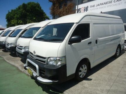 2013 Toyota Hiace KDH221R MY12 Upgrade SLWB White 5 Speed Manual Van Five Dock Canada Bay Area Preview