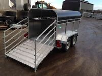 GALVANISED LIVESTOCK TRAILER WITH CANOPY RAMP AND GATES