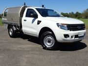 2013 Ford Ranger PX XL White Auto Sports Mode 2D Cab Chassis Erina Gosford Area Preview