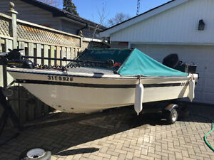 Rare 15 ft Grew with 45HP mercury motor and trailer! Best Summer