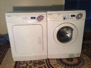 Electric White Samsung Stackable Front Load Washer dryer