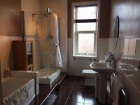 2 bedroom, Upper Tyneside Flat, part furnished, large bathroom
