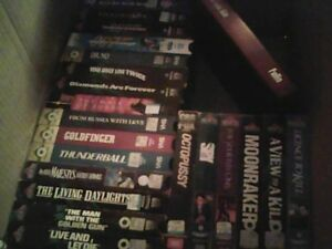 James Bond complete collection vhs tapes