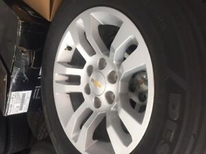 2017 Chevy Silverado 18 inch Alloy wheels/Michelin A/S
