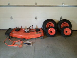 Kubota Bx mower deck and turf tire package