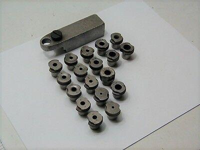 Drill Bar & (18) Slip Fit Drill Bushings ~ Aircraft Tools