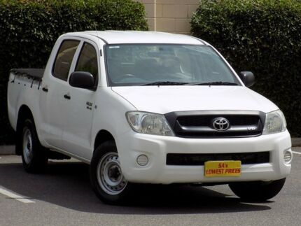 2010 Toyota Hilux GGN15R MY10 SR White 5 Speed Automatic Utility Blair Athol Port Adelaide Area Preview