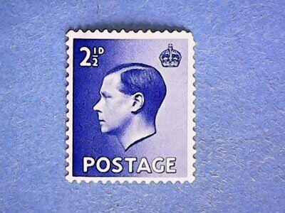 GB. KEVIII 1936 2½d Bright Blue. SG460. Wmk W125. P15 x 14. MH.