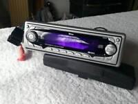 Car radio cd player with sony xplod 220w speakers