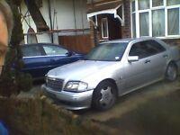 c36 amg mercedes forsale accident damaged BREAKING. VERY RARE PARTS.