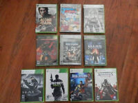 Lot of 8 good games for XBOX 360