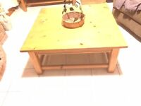 PINE SQUARE COFFEE TABLE---SOLID PINE