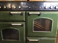 Used racing green range master, very reliable gas cooker 2 ovens and grill