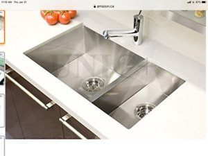 Beautiful New Kitchen Sink is too big for us! Never opened!