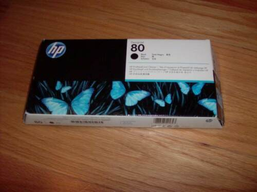 2017 GENUINE HP #80 BLACK PRINTHEAD/CLEANER DESIGNJET 1000 1050 C4820A NEW SEALE