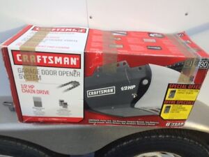Craftsman 1/2 HP Chain Garage Door Opener, New in box