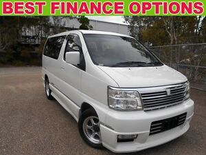 2001 Nissan Elgrand APE50 Highwaystar White 4 Speed Automatic Wagon Underwood Logan Area Preview