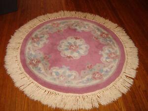 Indian round wool rug