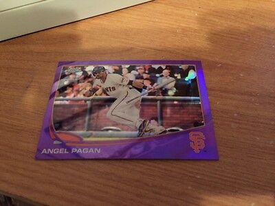 2013 Topps Chrome Purple Refractor Angel Pagan  86 Giants