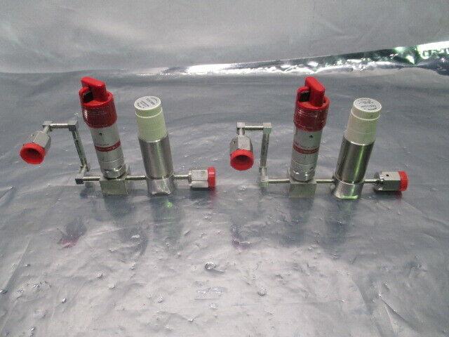 2 AMAT 0051-01713 Gas Manifold Assy w/ Fujikin and Tescom Valves, 453836