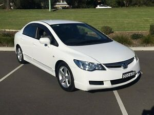 2008 Honda Civic MY08 VTi White 5 Speed Automatic Sedan Lisarow Gosford Area Preview