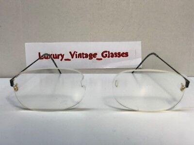 Lindberg Air Titanium Eyeglasses without EYEWEAR BRIDGE TEMPLES COL: GOLD (Eyeglasses Without Temples)