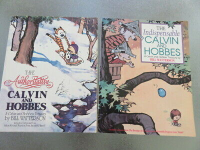 2 Calvin Hobbes Comic Strip Books Authoritative& Indispensible