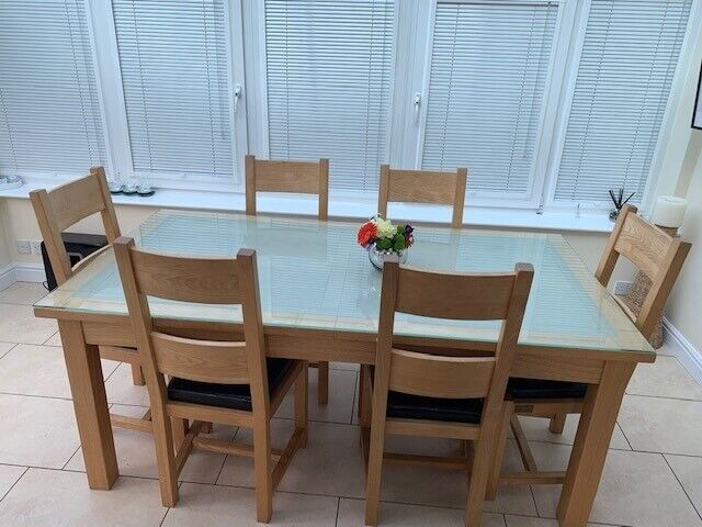 Halo Real Wood Extendable Dining Table With 6 Chairs
