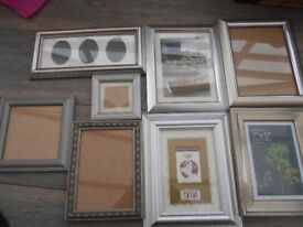 Picture Frames Silver x 8 Mixed Bundle