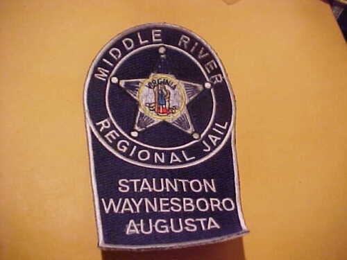 VIRGINIA MIDDLE RIVER REGIONAL JAIL POLICE PATCH SHOULDER SIZE UNUSED NO EDGE