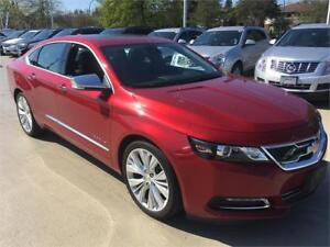 2015 Chevrolet Impala LTZ PREMIER red LOADED V6 automatic