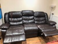 Recliner leather sofa for free.