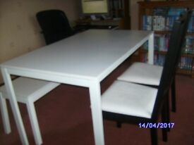 As New Ikea Dinning table and chairs