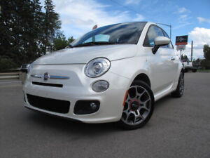 2012 Fiat 500 Sport Coupe **LOW KM, LEATHER, NO ACCIDENTS**